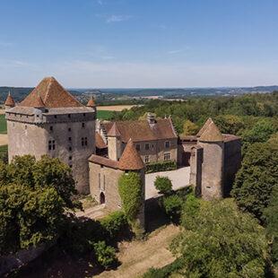 Vue générale du château du Pin