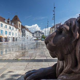 Statue du lion sur la Place de la Liberté