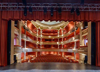 Intérieur du théâtre de Lons le Saunier
