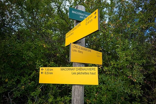 Signalétique de sentiers de randonnée