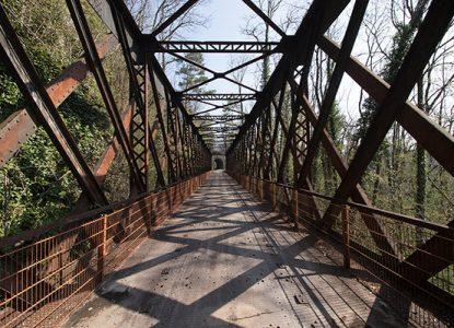 Pont de la voie verte à Perrigny
